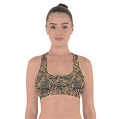 Art Indonesian Batik Cross Back Sports Bra