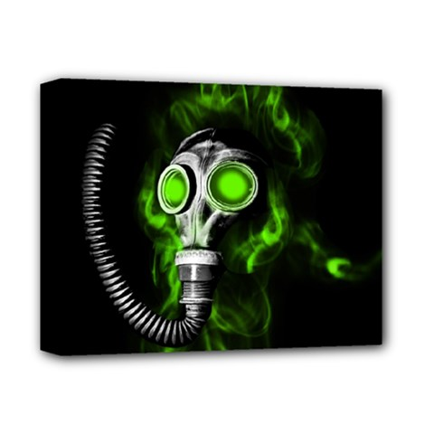 Gas Mask Deluxe Canvas 14  X 11  by Valentinaart