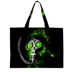 Gas Mask Zipper Large Tote Bag by Valentinaart