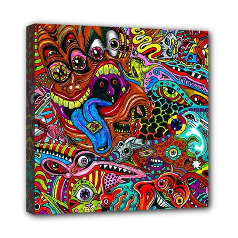 Art Color Dark Detail Monsters Psychedelic Mini Canvas 8  X 8  by BangZart