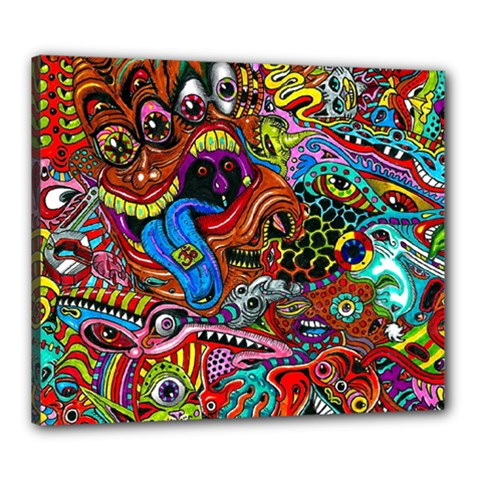 Art Color Dark Detail Monsters Psychedelic Canvas 24  X 20  by BangZart