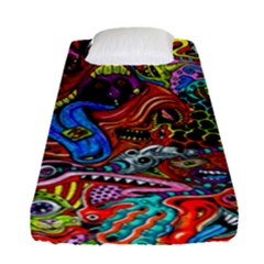 Art Color Dark Detail Monsters Psychedelic Fitted Sheet (single Size)