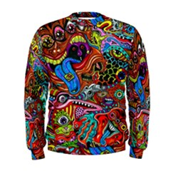 Art Color Dark Detail Monsters Psychedelic Men s Sweatshirt