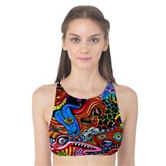 Art Color Dark Detail Monsters Psychedelic Tank Bikini Top