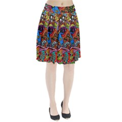 Art Color Dark Detail Monsters Psychedelic Pleated Skirt