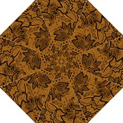 Art Traditional Batik Flower Pattern Folding Umbrellas