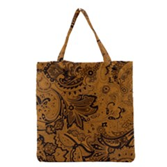 Art Traditional Batik Flower Pattern Grocery Tote Bag by BangZart