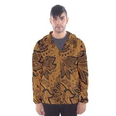 Art Traditional Batik Flower Pattern Hooded Wind Breaker (men)