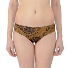 Art Traditional Batik Flower Pattern Hipster Bikini Bottoms