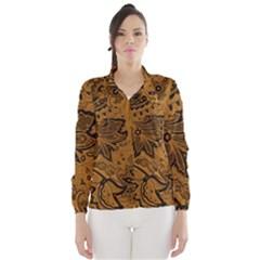 Art Traditional Batik Flower Pattern Wind Breaker (women)