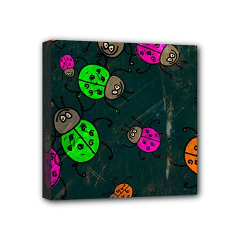 Abstract Bug Insect Pattern Mini Canvas 4  X 4  by BangZart