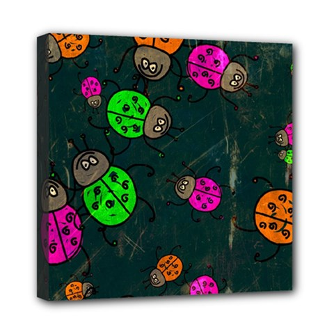 Abstract Bug Insect Pattern Mini Canvas 8  X 8  by BangZart