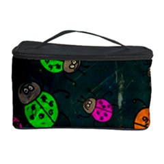 Abstract Bug Insect Pattern Cosmetic Storage Case