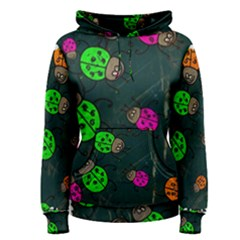 Abstract Bug Insect Pattern Women s Pullover Hoodie