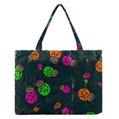 Abstract Bug Insect Pattern Medium Zipper Tote Bag