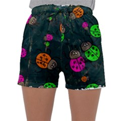 Abstract Bug Insect Pattern Sleepwear Shorts