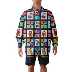 Animal Party Pattern Wind Breaker (kids)