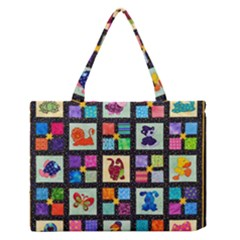 Animal Party Pattern Medium Zipper Tote Bag