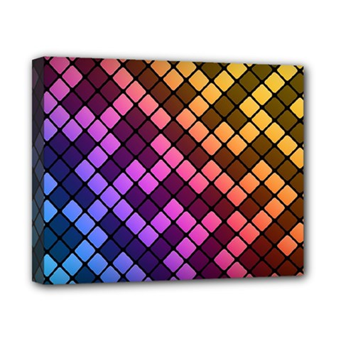 Abstract Small Block Pattern Canvas 10  X 8  by BangZart