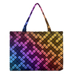 Abstract Small Block Pattern Medium Tote Bag by BangZart