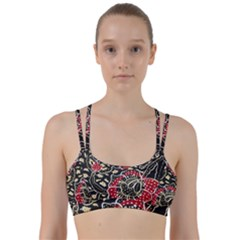 Art Batik Pattern Line Them Up Sports Bra