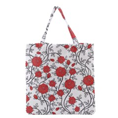 Texture Roses Flowers Grocery Tote Bag