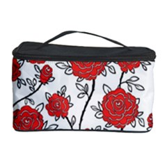 Texture Roses Flowers Cosmetic Storage Case