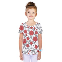 Texture Roses Flowers Kids  One Piece Tee