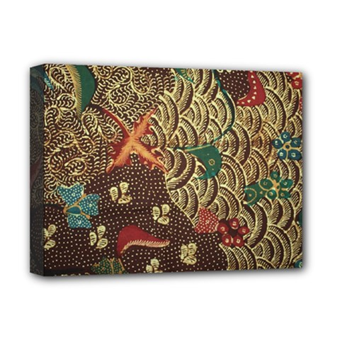 Art Traditional Flower  Batik Pattern Deluxe Canvas 16  X 12   by BangZart