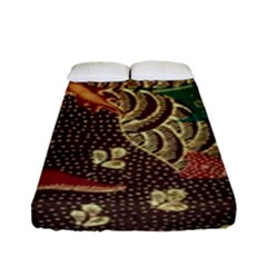Art Traditional Flower  Batik Pattern Fitted Sheet (full/ Double Size) by BangZart
