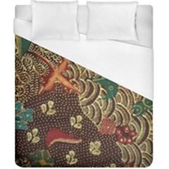 Art Traditional Flower  Batik Pattern Duvet Cover (california King Size)