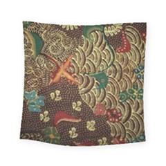 Art Traditional Flower  Batik Pattern Square Tapestry (small)
