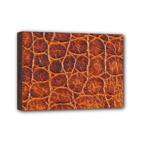 Crocodile Skin Texture Mini Canvas 7  X 5  by BangZart