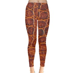 Crocodile Skin Texture Leggings