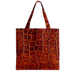 Crocodile Skin Texture Grocery Tote Bag