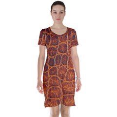 Crocodile Skin Texture Short Sleeve Nightdress by BangZart