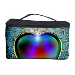 Rainbow Fractal Cosmetic Storage Case by BangZart