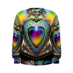 Rainbow Fractal Women s Sweatshirt