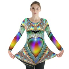 Rainbow Fractal Long Sleeve Tunic