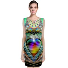 Rainbow Fractal Classic Sleeveless Midi Dress
