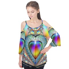 Rainbow Fractal Flutter Tees