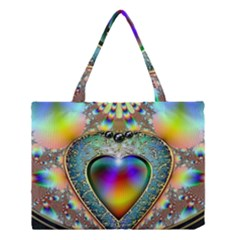 Rainbow Fractal Medium Tote Bag