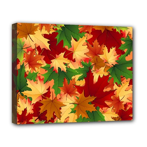 Autumn Leaves Deluxe Canvas 20  X 16   by BangZart