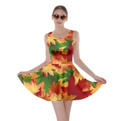 Autumn Leaves Skater Dress