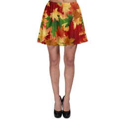 Autumn Leaves Skater Skirt