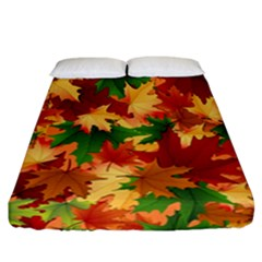 Autumn Leaves Fitted Sheet (california King Size) by BangZart