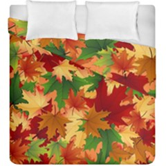 Autumn Leaves Duvet Cover Double Side (king Size)