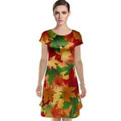 Autumn Leaves Cap Sleeve Nightdress