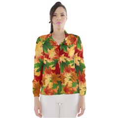 Autumn Leaves Wind Breaker (women)
