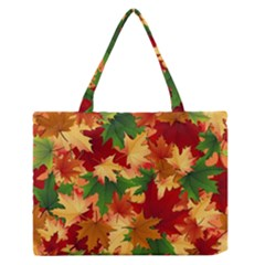 Autumn Leaves Medium Zipper Tote Bag